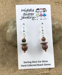 Stacked Stone Earrings - CEST3