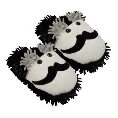 Aroma Home Fuzzy Friends Slippers ~ Moustache