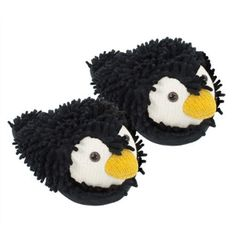 Aroma Home Fuzzy Friends Slippers ~ Penguin