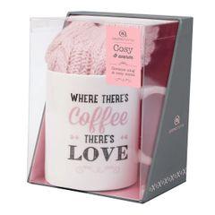 Aroma Home Mug & Sock Gift Set ~ Pink (Coffee)
