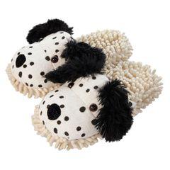 Aroma Home Fuzzy Friends Slippers ~ Dalmatian