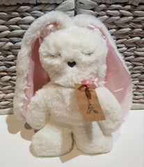 Flat Bunny - White with Pink Ears