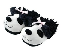 Aroma Home Fuzzy Friends Slippers ~ Panda