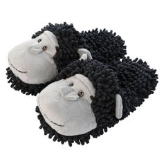 Aroma Home Fuzzy Friends Slippers ~ Chimpanzee