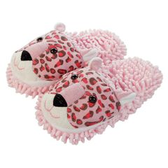 Aroma Home Fuzzy Friends Slippers ~ Leopard