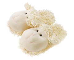 Aroma Home Fuzzy Friends Slippers ~ Lamb