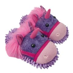 Aroma Home Fuzzy Friends Slippers ~ Unicorn