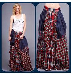 Checkered Maxi Skirt