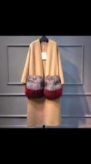 Cashmere Cardigan with Fox Fur Removable Pockets