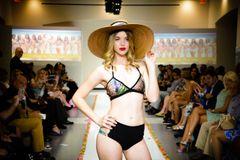 G2048 - Bikini - Green Leaves Top - Three Strap High Waist