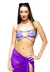 G2037 - Bikini - Adjustable Bandeau Tropic Paisley