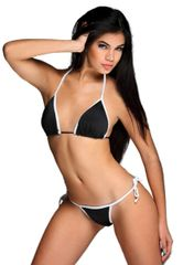 G2002 - Bikini - Panther Black & Satin White