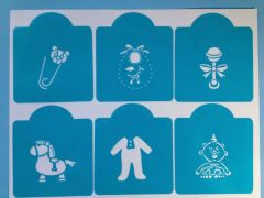Baby Shower & New Born Stencils, Set of 6