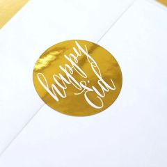 """Happy Eid"" Gold Foil Stickers"