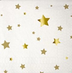 Toot Sweet Gold Star Napkins