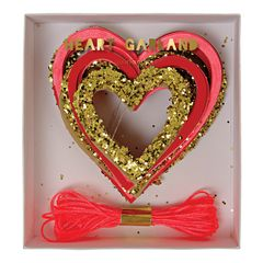 Hearts Mini Glitter Garland