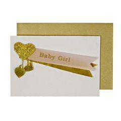 Baby Girl Charm Gift Enclosure