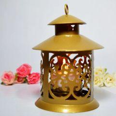 Mini Gold Ramadan Lantern Candleholder