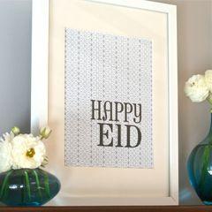 Happy Eid Decorative Prints-Mod