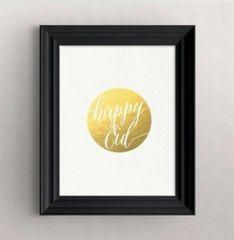 """Happy Eid"" Gold Foil Print"