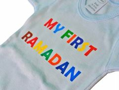 """My First Ramadan"" Blue Onesie"