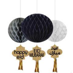 Ramadan & Eid Honeycomb Set with Gold Tassels