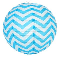 Chevron Paper Lanterns 14""
