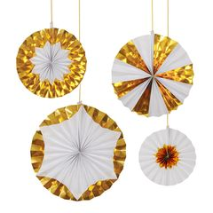 Giant Foil Gold Pinwheels For All Occasions