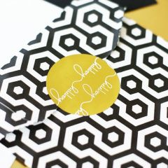 """""""Happy Happy"""" Gold Foil Stickers"""