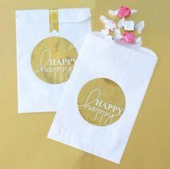 """Happy Happy"" Gold Foil Bag"