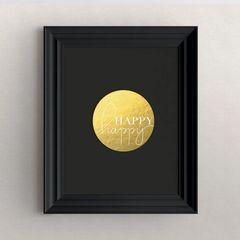"""""""Happy happy"""" Decorative Art Print"""