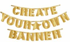 DIY Gold Create Your Own Banner