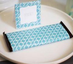 Candy Bar Wrapper - Blue