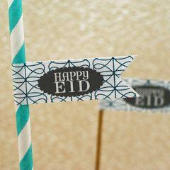 """""""Happy Eid"""" Flag Stickers-Mod"""