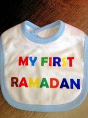 """My First Ramadan"" Blue Bib"