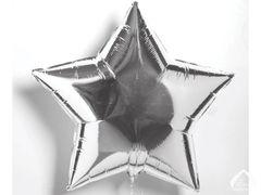 Silver Star Mylar Balloon