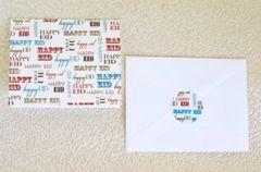 Happy Eid Fonts Greeting Card
