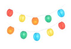 Oval Multi-Color Party String Lights