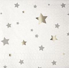 Toot Sweet Silver Stars Napkins