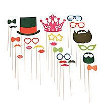Photo Props on Sticks-fun with photo booths, and Fun Frames-