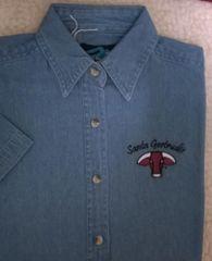 Santa Gertrudis LADIES Denim Shirt SHORT Sleeve