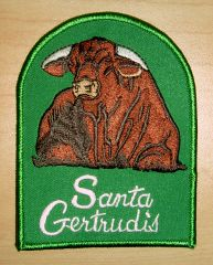 Santa Gertrudis Vintage Design Patch