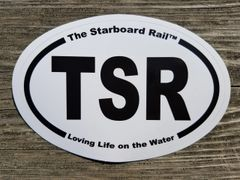 TSR oval sticker