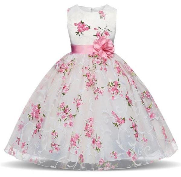 Royal Princess Wedding Party Dress Flower Girls Dresses 4 6 8 10