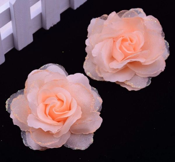 10pcs peach rose heads silk with glitters peach silk flowers wed 10pcs peach rose heads silk with glitters peach silk flowers wedding supply craft supplies mightylinksfo
