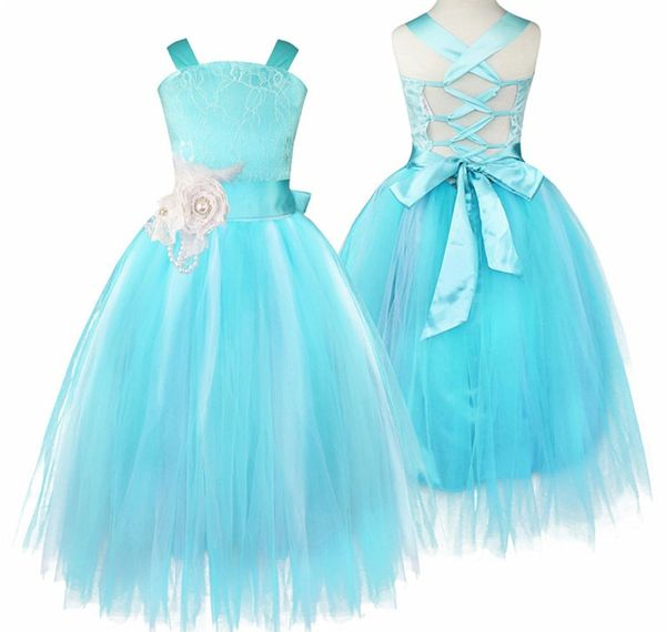 New Arrival Aqua Blue Tutu Dress For Flower Girls Ages 6789 Up To 14 Years Old Dresses Girl Wedding Photography Props