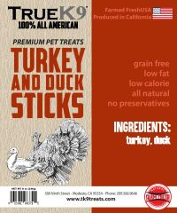 Turkey Duck Sticks 8oz bags