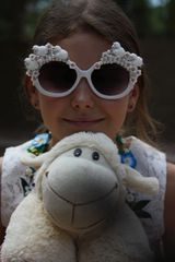 978 Sheep In Pearl Clouds Adorable Sunglasses Eye Wear Shades