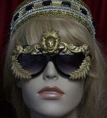 1750 Unisex Baroque Gold Lion Embellished Sunglasses