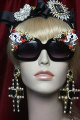 2778 Trendy Playing Cards Baroque Sided Sunglasses